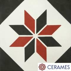 Gustowna podłoga z hiszpańskich płytek cementowych: styl , w kategorii Schody zaprojektowany przez Cerames