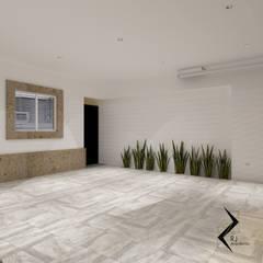 Remodelación residencial: Garajes abiertos de estilo  por RJ Arquitectos, Moderno