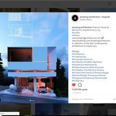 FRANCOS House - Alberto Machuca: Villas de estilo  por EMPORIO Arquitectura e Ingenieria