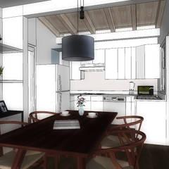 COMEDOR-COCINA: Cocinas de estilo ecléctico por WIGO SC