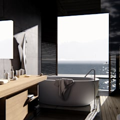Bathroom by alexander and philips, Tropical Stone