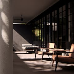 House Study 03 Balkon, Beranda & Teras Klasik Oleh alexander and philips Klasik Kayu Wood effect