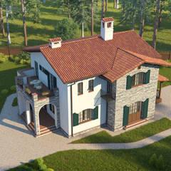 Casas de campo de estilo  por НБ_Частный Девелопмент