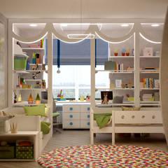 """Дизайн детcкой в стиле модернизм в квартире в ЖК """"7 континент"""", г.Краснодар: Детские комнаты в . Автор – Студия интерьерного дизайна happy.design"""