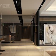Residence 22, Mont Kiara:  Corridor & hallway by Norm designhaus, Modern