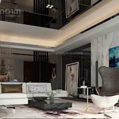 Residence 22, Mont Kiara:  Living room by Norm designhaus