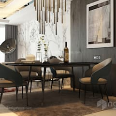 Residence 22, Mont Kiara:  Dining room by Norm designhaus