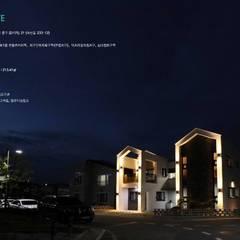 """울산혁신도시 단독주택  """"First Love"""": GN건축사사무소의  일세대용 주택,모던 철근 콘크리트"""