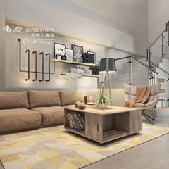 客廳/沙發背牆/展示架/工業風:  客廳 by 木博士團隊/動念室內設計制作