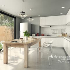 Kitchen units by 木博士團隊/動念室內設計制作, Industrial Wood Wood effect