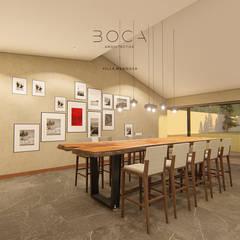 Villa Mendoza: Comedores de estilo rústico por BOCA ARQUITECTOS