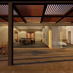 Villa Mendoza: Terrazas de estilo  por BOCA ARQUITECTOS