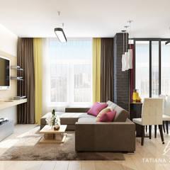 DM SkyLand: styl , w kategorii Pokój multimedialny zaprojektowany przez Design studio TZinterior group