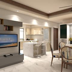 Living room with connected kitchen:  Living room by TheMistris