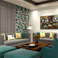 Interiors:  Living room by The Cobblestone Studio,Modern