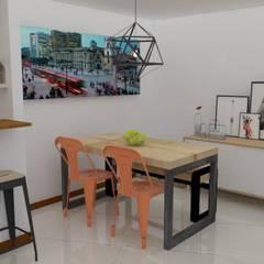comedor personalizado : Comedores de estilo  por Naromi  Design