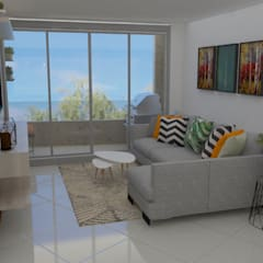 Apartamento Sabaneta : Salas de estilo  por Naromi  Design