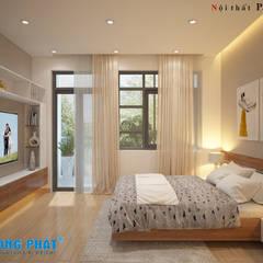 Các vật dụng có thiết kế đơn giản, ít họa tiết rườm rà sẽ phù hợp với những ngôi nhà có thiết kế hiện đại.:  Phòng ngủ by Công ty TNHH Thiết Kế Xây Dựng Song Phát