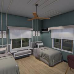 Casa Unifamiliar: Dormitorios de estilo clásico por Triad Group
