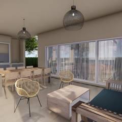 Diseño interior - Vivienda Unifamiliar: Jardines de estilo clásico por Triad Group