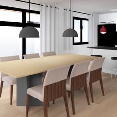 Residência - São José do Rio Preto, SP: Salas de jantar  por Paes de Andrade Arquitetura