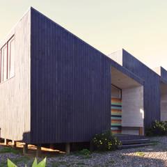 Cabañas Algarrobo: Casas de madera de estilo  por m2 estudio arquitectos - Santiago
