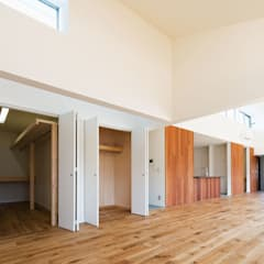 山沿いの家: 長井建築設計室が手掛けた壁です。