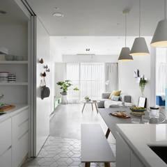 غرفة المعيشة تنفيذ 寓子設計 , إسكندينافي
