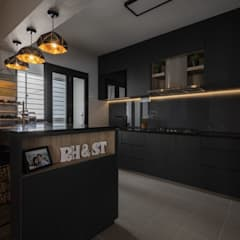 673B Yishun Ave 4 - Modern Scandinavian :  Built-in kitchens by VOILÀ Pte Ltd,