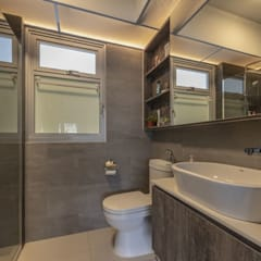 673B Yishun Ave 4 - Modern Scandinavian : modern Bathroom by VOILÀ Pte Ltd