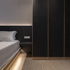 673B Yishun Ave 4 - Modern Scandinavian :  Bedroom by VOILÀ Pte Ltd