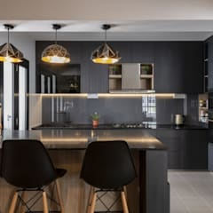 673B Yishun Ave 4 - Modern Scandinavian :  Built-in kitchens by VOILÀ Pte Ltd
