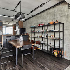 821 Yishun St 81 - Industrial : industrial Dining room by VOILÀ Pte Ltd