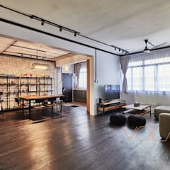 821 Yishun St 81 - Industrial :  Living room by VOILÀ Pte Ltd,