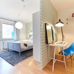 Möbliertes Appartement - Arbeiten & Schlafen:  Arbeitszimmer von Tschangizian Home Staging & Redesign