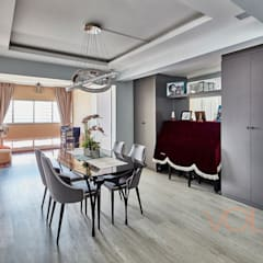 44 Marina Crescent - Modern Classic :  Living room by VOILÀ Pte Ltd,
