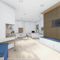 Agência Allianz Escritórios escandinavos por OGGOstudioarchitects, unipessoal lda Escandinavo Madeira Acabamento em madeira