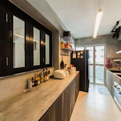 807C Chai Chee - Industrial :  Built-in kitchens by VOILÀ Pte Ltd,