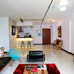461 @ Fernvale  - Eclectic Retro :  Living room by VOILÀ Pte Ltd,Eclectic