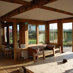 Oak Garden Rooms :  Conservatory by Taylored Joinery Ltd