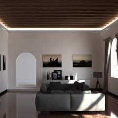 Cornice per led classica a soffitto - EL701: Soggiorno in stile  di Eleni Lighting