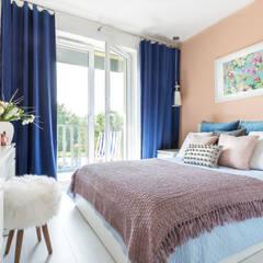 Kontrasty: styl , w kategorii Sypialnia zaprojektowany przez FAJNY PROJEKT