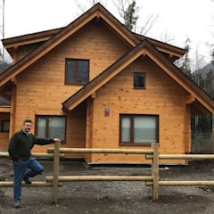 Chalets & maisons en bois de style  par Patagonia Log Homes