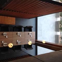 Oficinas y Tiendas de estilo  por ASCARI I FALEGNAMI