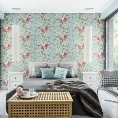 Dom w Pszczynie: styl , w kategorii Sypialnia zaprojektowany przez FAJNY PROJEKT