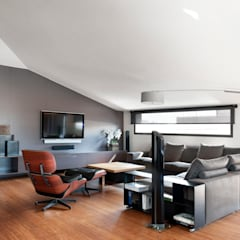 Residencial 3: Salones de estilo moderno de Sambori Design