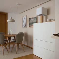 Sala | Depois: Salas de jantar  por MUDA Home Design