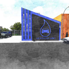 La Caja: Garajes de estilo moderno por D+ Arquitectura