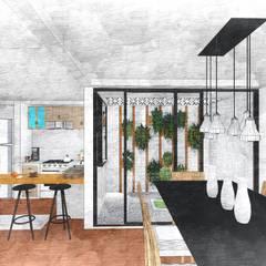 Hey Jude: Condominios de estilo  por D+ Arquitectura