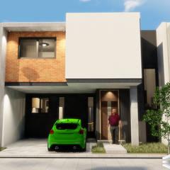 Casa tipo m3: Conjunto residencial de estilo  por Trignum Arquitectura
